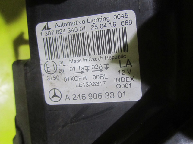 Фара левея LED Mercedes-Benz B w246 (14-н.в.) A2469063301 - 2